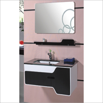 Bathroom Cabinet - PVC-Glass Counter