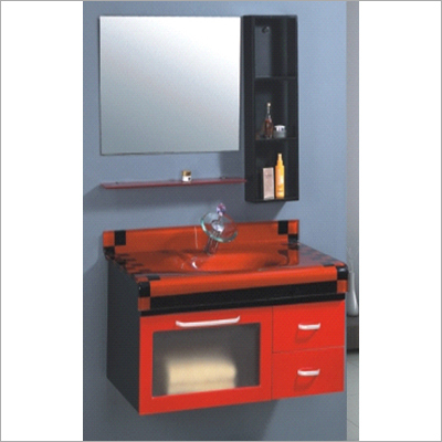 Bathroom Cabinet - PVC-Glass Counter