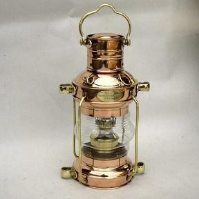 Copper Ship Lamp
