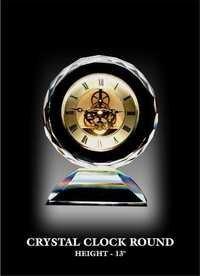 EWI CRYSTAL CLOCK ROUND.