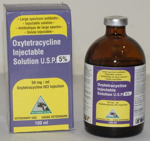 OXYTETRACYCLIN INJECTABLE SOLUTION 5% 100 ML