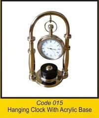 OTC 015 Hanging Clock With Acrylic Base .