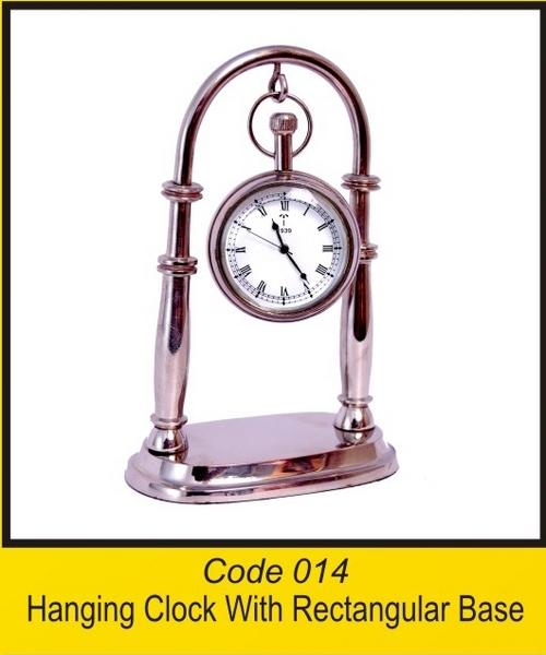 OTC 014 Hanging Clock With Rectangular Base