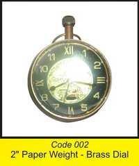 OTC 002 2'' Paper Weight - Brass Dial