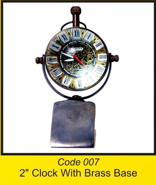 OTC 007 2'' Clock With Brass Base