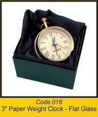 OTC 016 3'' Paper Weight Clock - Flat Glass