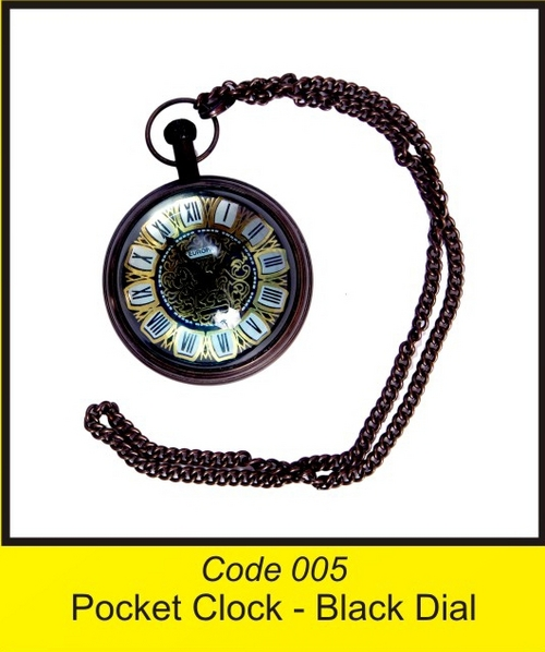 OTC 005 Pocket Clock - Black Dial