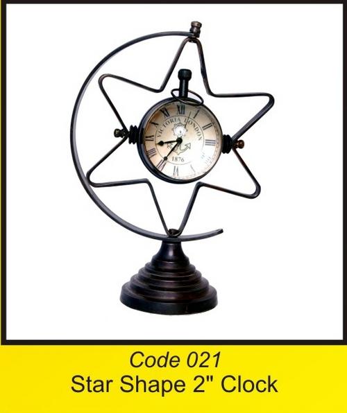 OTC 021 Star Shape 2'' Clock