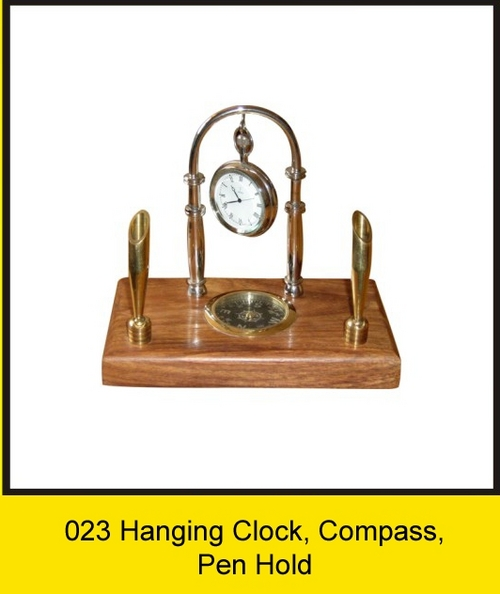 OTC 023 Hanging Clock, Compass, Pen Hold