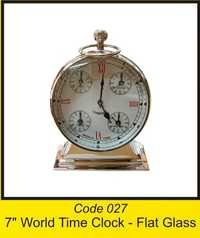 OTC 027 7'' World Time Clock - Flat Glass