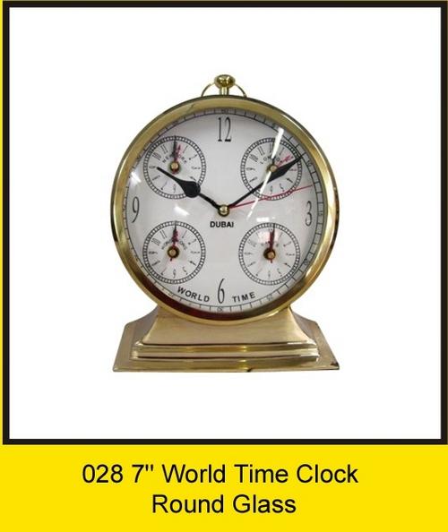 OTC 028 7'' World Time Clock - Round Glass
