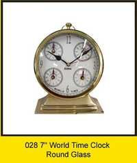 OTC 028 7'' World Time Clock - Round Glass