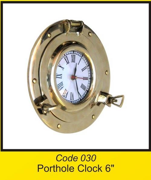 OTC 030 Porthole Clocke 6'' .