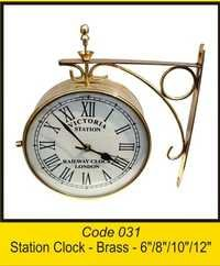 OTC 031 Station Clock - Brass - 6'' 8'' 10'' 12