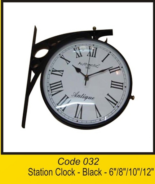 OTC 032 Station Clock -Black - 6''8''10''12''