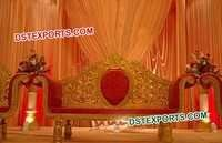 Indian Wedding Golden Love Seater