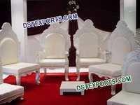 Indian Wedding White Mandap Chairs Set