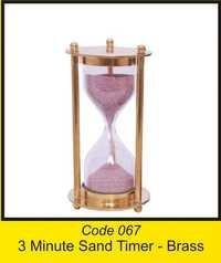 OTC 067 3 Minute Sand Timer - brass