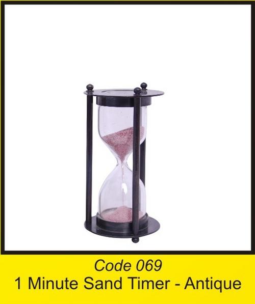 OTC 069 1 Minute Sand Timer - antique