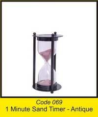 OTC 069 1 Minute Sand Timer - antique