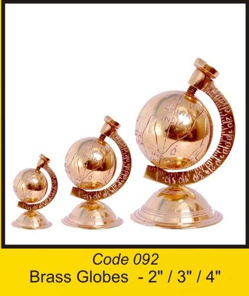 OTC 092 brass Globes - 2'' 3'' 4''