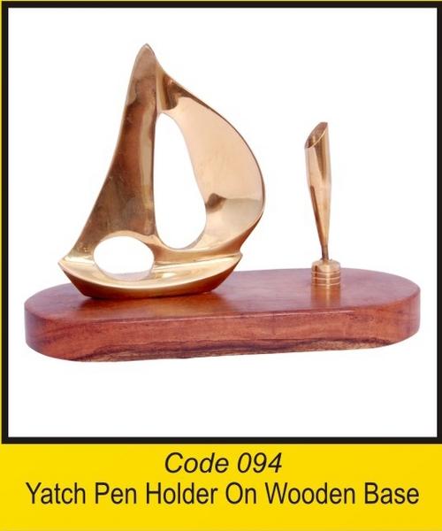 OTC 094 Yatch Pen Holder On Wooden Base