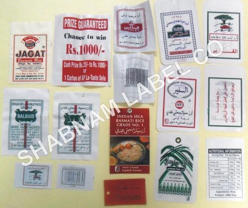 Rice Jute Bag Labels