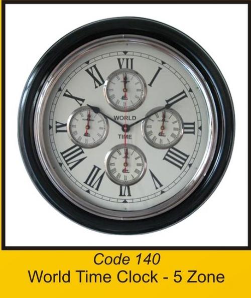 OCT 140 World Time Clock - 5 Zone