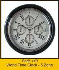 OCT 140 World Time Clock - 5 Zone