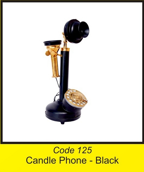 OTC 125 Gramophone  Candle Phone - Black