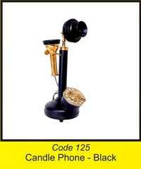 OTC 125 Gramophone  Candle Phone - Black