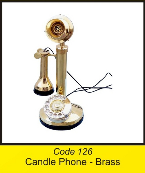 OTC 126 Candle Phone - Brass
