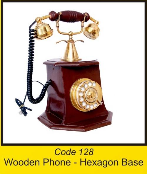 OTC 128 Wooden Phone - Hexagon Base