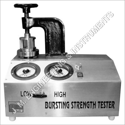 Deluxe Bursting Strength Tester