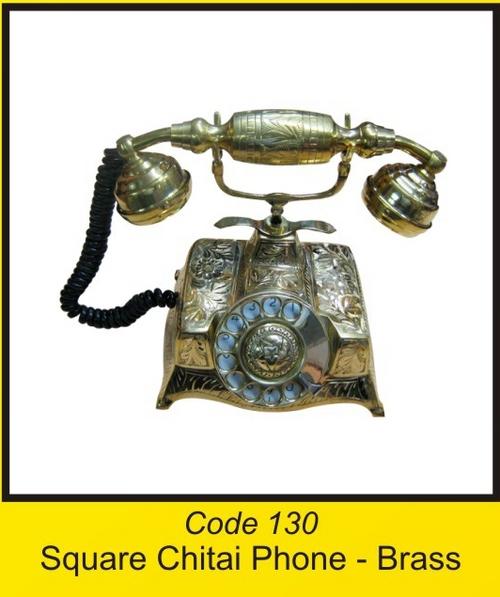 OTC 130 Square Chitai Phone - Brass