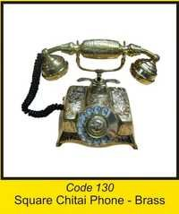 OTC 130 Square Chitai Phone - Brass