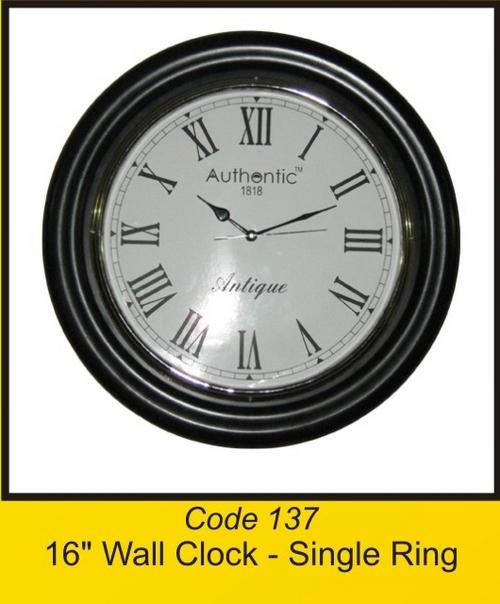 OTC 137 16'' Wall Clock - Single Ring