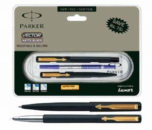 Parker Vector Matte Black Set GT (Roller Ball+ Ball Pen)