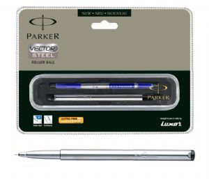 Parker Vector Stainless Steel Roller Ball Pen (CT)