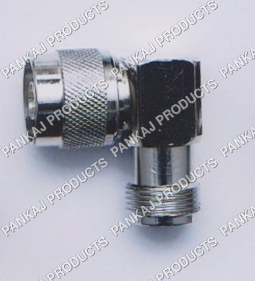 N Male to N Female Right Angle Adapter