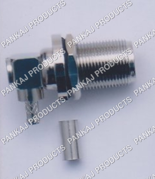 N Female Bulk Head Right Angle Crimp Type RG 58