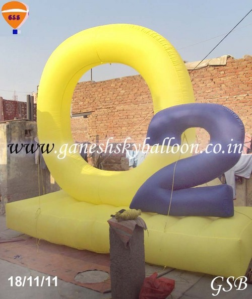 Advertising shape inflatables