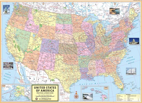 U.S.A Political Map Manufacturer,United State if America Political ...