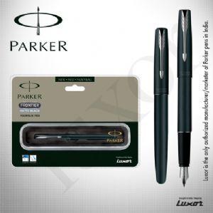 Parker Frontier Matte Black CT FP Pen + Free engraving