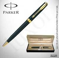 Parker Sonnet Matte Black GT BP Slim@25 % off with Free engraving on Pen