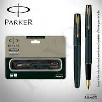 Parker Frontier Matte Black GT FP Pen + Free engraving