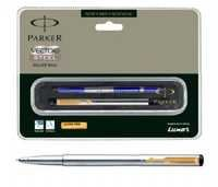 Parker Vector Stainless Steel Roller Ball Pen (GT)- Free Engraving