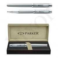 Parker IM Metal Silver CT Roller Ball Pen