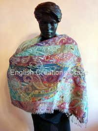Pure Wool Embroidered Shawls