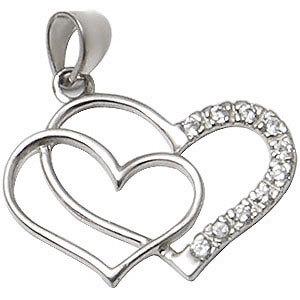 CZ-Heart-Silver-Pendant
